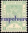 Switzerland Bern 1886 revenue 2fr - 33B.jpg