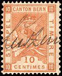 Switzerland Bern 1892-1902 revenue 10c - 39A VI-96.jpg