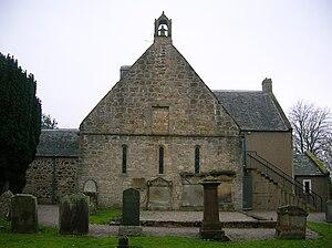 Symington, South Ayrshire - Symington Church showing the 13th century windows.