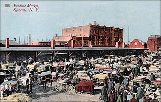 Little Italy, Syracuse - Syracuse Northside Produce Market, c. 1900