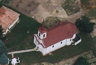 Pocsaj - Aerialphotography: Pocsaj, church