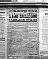Tájékoztató hírdetmény a légitámadások károsultjainak támogatásáról, 1944 Budapest Fortepan 72674.jpg