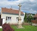 Těšov (Uherský Brod), kříž U Dráhy.jpg
