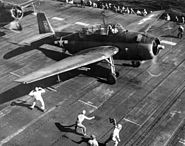 TBF VT-8 on USS Bunker Hill off Saipan 1944