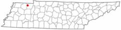 Location of Cottage Grove, Tennessee