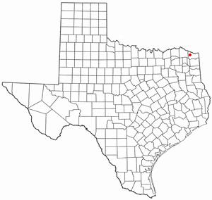 De Kalb, Texas - Image: TX Map doton De Kalb