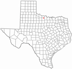Location of Lakeside City, Texas