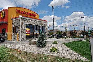 Taco John's - Taco John's restaurant in Cheyenne, Wyoming in July 2013