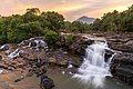 Tad Hang waterfalls at sunset, Tad Lo village, Bolaven Plateau, Laos.jpg