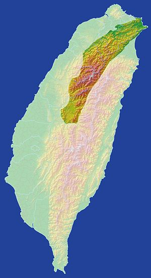 Xueshan Range - Xueshan Range area in Taiwan.