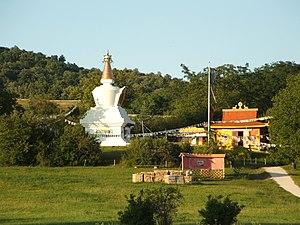 Buddhism in Hungary - Sándor Kőrösi Csoma stupa in Tar village.