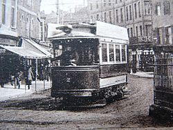 Taunton single deck tramcar 2 in Fore Street.jpg