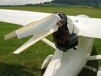Technoflug Piccolo - Technoflug Piccolo showing folding three-bladed propeller