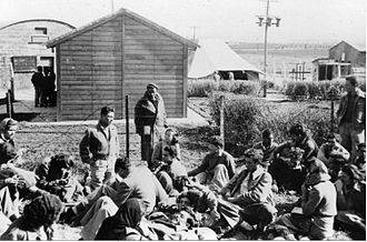 Tel HaShomer - Israeli army camp at Tel Hashomer. 1949