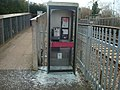 Telephone box, Beltring railway station - geograph.org.uk - 1706601.jpg