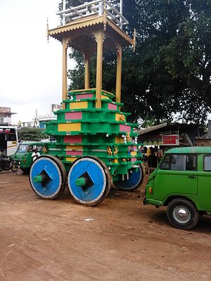 Temple car - Temple chariot in Bannur, Mysore