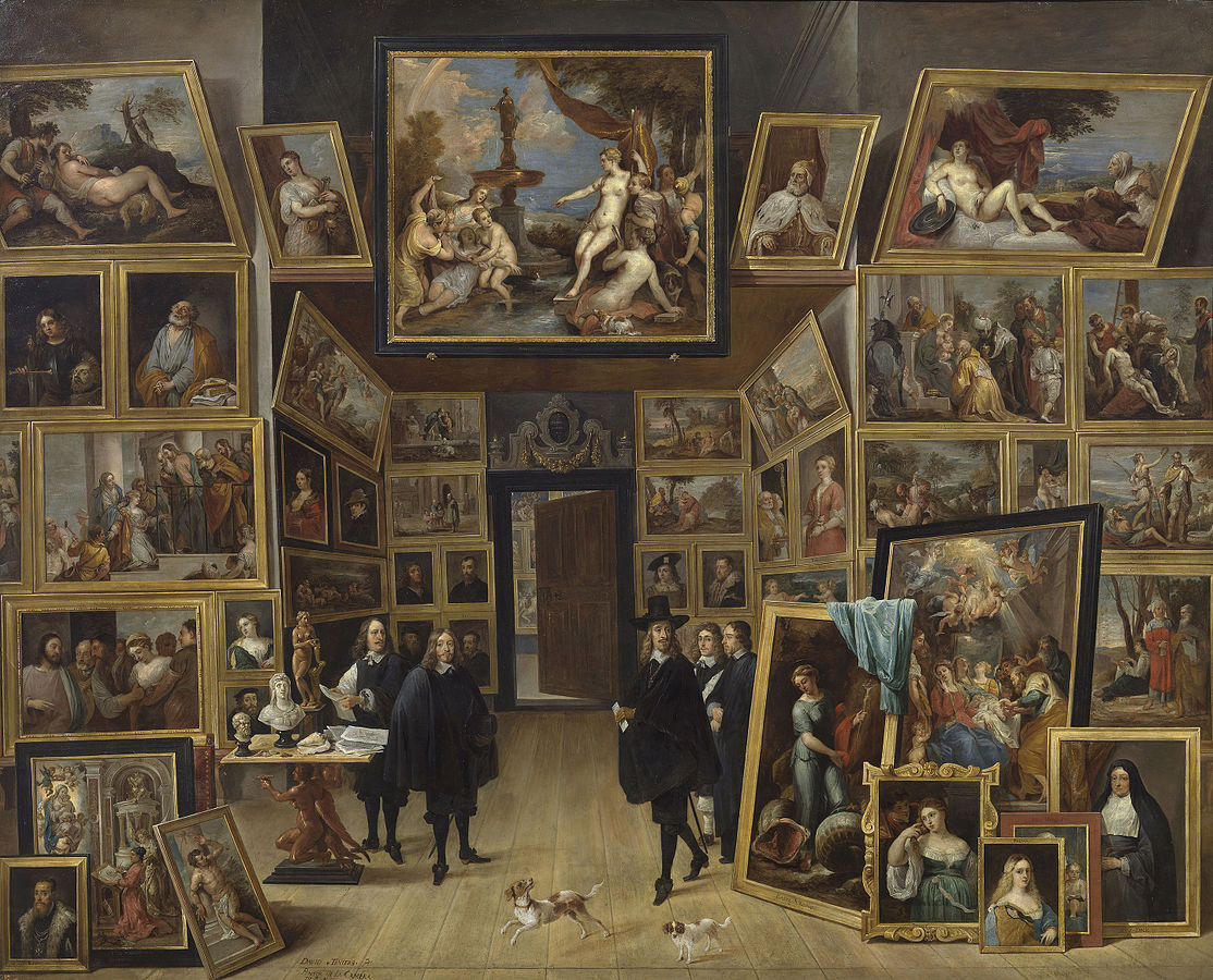 L'Archiduc Léopold-Guillaume dans sa galerie
