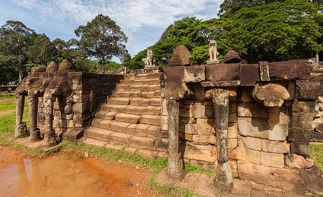 Terraza De Los Elefantes Lugar De Interés En Siem Reap