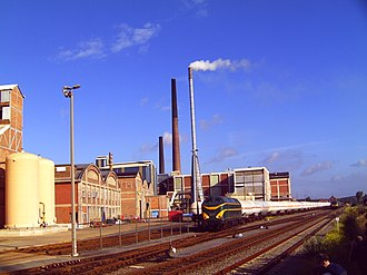 Tessenderlo - Image: Tessenderlo train factory