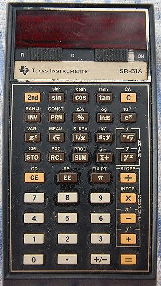 TI SR-50 - Image: Texas Instruments SR 51A