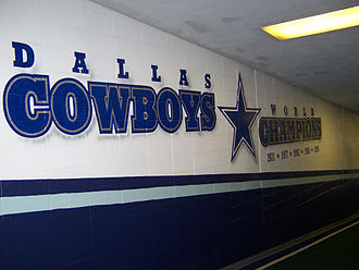 "Texas Stadium - ""Five-time Super Bowl Champions Mural"" in the Cowboys' tunnel"