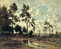 Théodore Rousseau - La cabane du charbon de bois dans la forêt de Fontainebleau.jpg