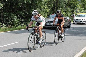 Wiggle High5 Pro Cycling - Lauren Kitchen at the Thüringen-Rundfahrt der Frauen.
