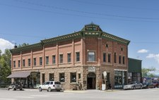 The 1905 Bauer Bank Block building in Mancos.