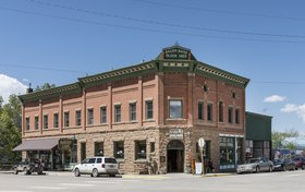 The 1905 Bauer Bank Block commercial building, constructed in Mancos, Colorado, by George Bauer, the town's most prominent banker and businessman LCCN2015632618.tif