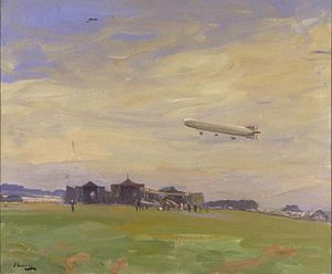 The Aerodrome, East Fortune, North Berwick, 1918 by John Lavery.jpg