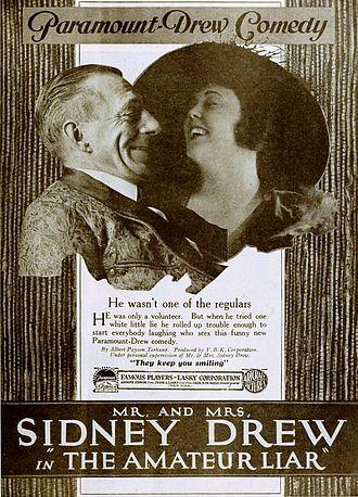 Lucille McVey - Ad for The Amateur Liar (1919)