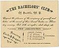 The Bachelors' Club invitation, circa 1885 (MOHAI 11506).jpg