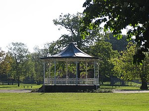 Barra Hall Park - The bandstand in Barra Hall Park