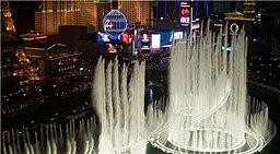 The Bellagio Fountains, Las Vegas.
