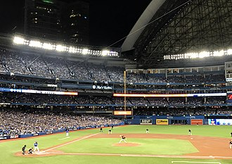 Sports in Canada - The 2016 American League Wild Card Game at Rogers Centre in Toronto. Since 2005, the Toronto Blue Jays are the only Canadian team in Major League Baseball.
