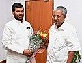 The Chief Minister of Kerala, Shri Pinarayi Vijayan meeting the Union Minister for Consumer Affairs, Food and Public Distribution, Shri Ram Vilas Paswan, in New Delhi on November 16, 2016.jpg