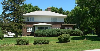 National Register of Historic Places listings in Cass County, Nebraska - Image: The Elms (Elmwood, NE) from W 2