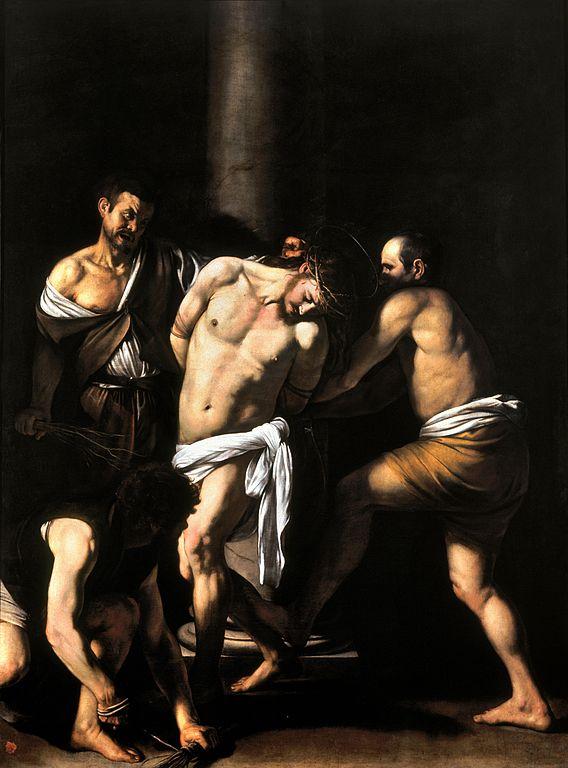 La flagellation du Christ par Caravaggio (1607).