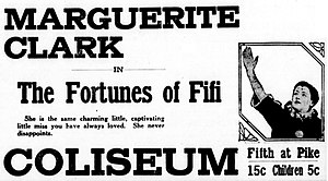 The Fortunes of Fifi -  newspaper advertisement.