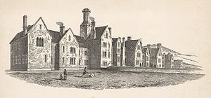 History of psychiatric institutions - The joint counties' lunatic asylum, erected at Abergavenny, 1850