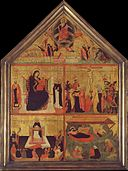The Last Judgment; The Virgin and Child with a Bishop-Saint and Saint Peter Martyr; The Crucifixion; The Glorification of Saint Thomas Aquinas; The Nativity MET DT3069.jpg