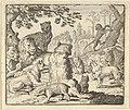 The Lion Orders All the Animals to Follow Him to Renard's Burrow from Hendrick van Alcmar's Renard The Fox MET DP837729.jpg