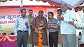 The MLA, Shri Sudhakar Singh inaugurating the Public Information Campaign on Bharat Nirman, organised by PIB, Varanasi, at Mau, Uttar Pradesh, on November 01, 2012.jpg