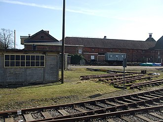 Dereham - The maltings complex beside the railway, closed in 2000 but proposed for reopening in 2015.