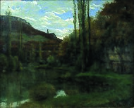 The Mirror on the River Loue Scey-en-Varais, near Ornans by Gustave Courbet.jpeg