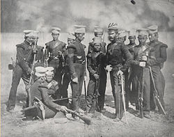 https://upload.wikimedia.org/wikipedia/commons/thumb/a/ad/The_Nusseree_Battalion.JPG/250px-The_Nusseree_Battalion.JPG