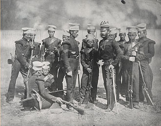1 Gorkha Rifles - The Nusseree Battalion later known as the 1st Gurkha Rifles circa 1857