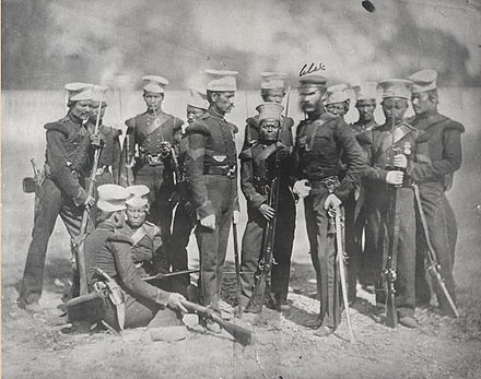 The Nusseree Battalion later known as the 1st Gurkha Rifles circa 1857