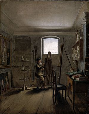 Georg Friedrich Kersting - Kersting's The Painter Gerhard von Kügelgen in his Studio, 1811