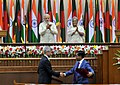 The Prime Minister, Shri Narendra Modi and the Prime Minister of Bangladesh, Ms. Sheikh Hasina witnessing the exchange of agreements between India & Bangladesh, in Dhaka, Bangladesh on June 06, 2015 (1).jpg